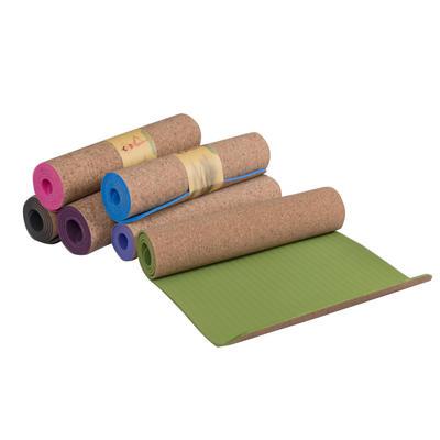 Eco-friendly Customized Printed Logo Fitness Cork Yoga Mat