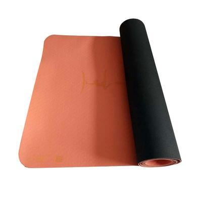 Anti Slip Logo Printing 100% Natural Rubber+TPE Yoga Mat With Body Alignment